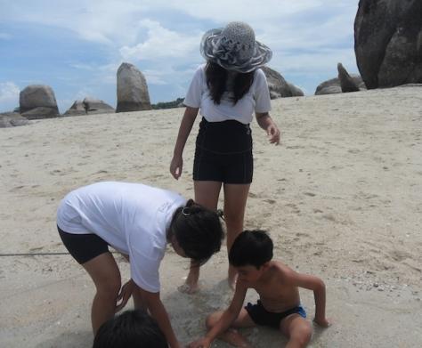 bangka belitung pantai beach hopping island snorkeling