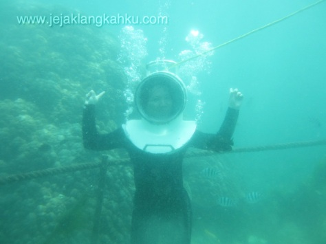 seawalker pantai tanjung benoa bali underwater water sport